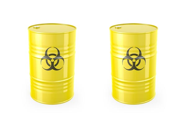 contenedores para deshechos biológicos