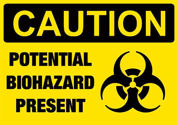 señalización de peligro biológico
